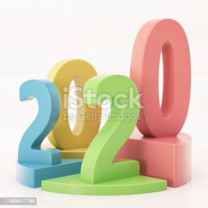 1170746979istockphoto Pie Chart Graphics with 2020 1169647785