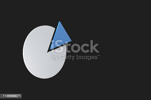 1149620931 istock photo Pie Chart Infographic Element with Blue Piece 1149569071