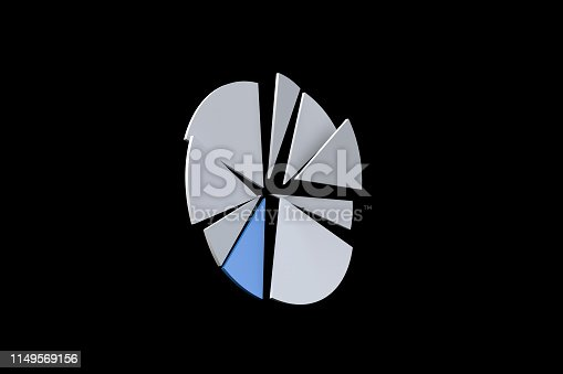 istock Pie Chart Infographic Element with Blue Piece 1149569156