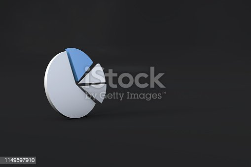 1149620931 istock photo Pie Chart Infographic Element with Blue Piece 1149597910