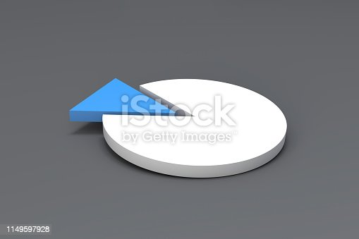 1149620931 istock photo Pie Chart Infographic Element with Blue Piece 1149597928
