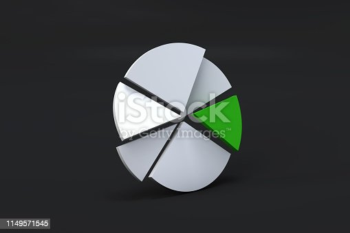 istock Pie Chart Infographic Element with Green Piece 1149571545