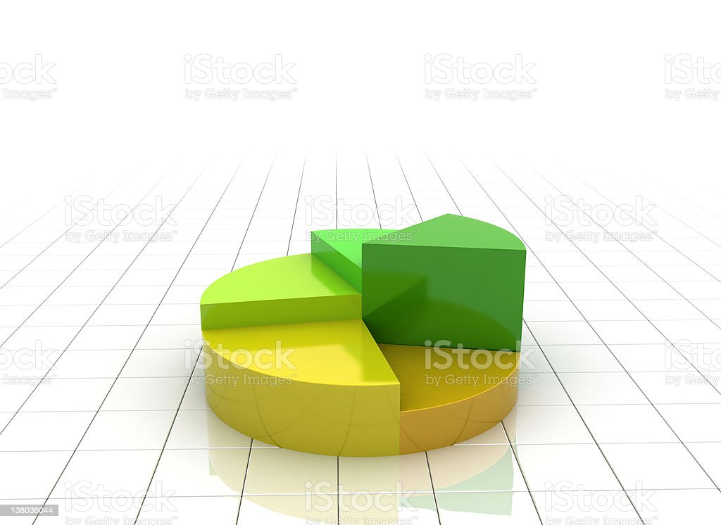 Pie chart stock photo
