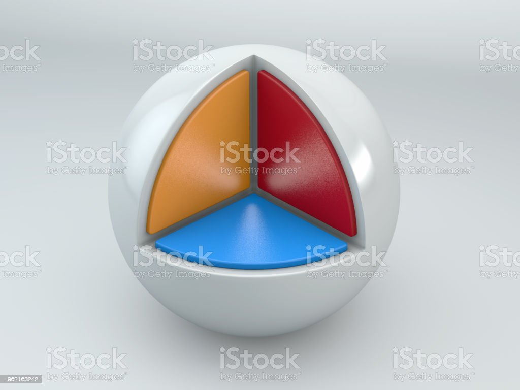 Pie Chart Template on a White Ball stock photo