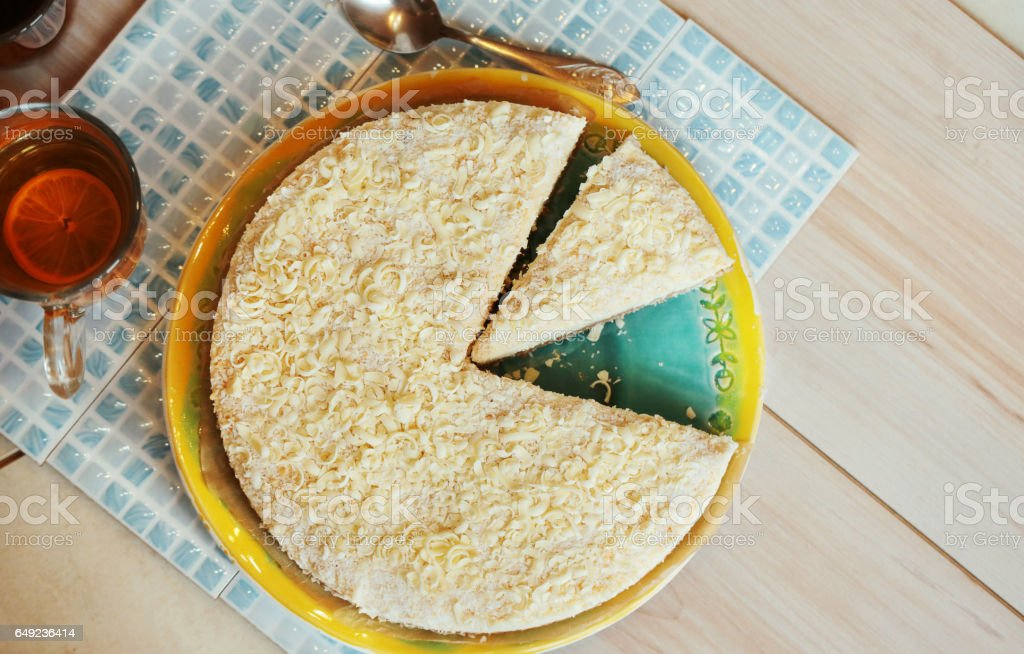 Pie. Cheesecake. stock photo