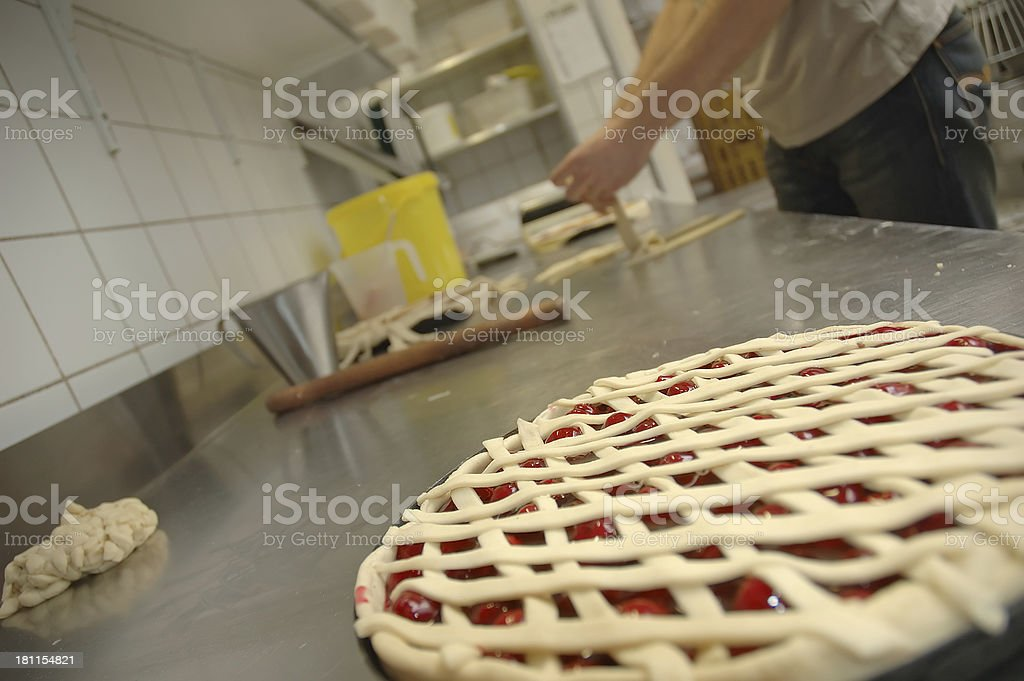 pie in the making royalty-free stock photo