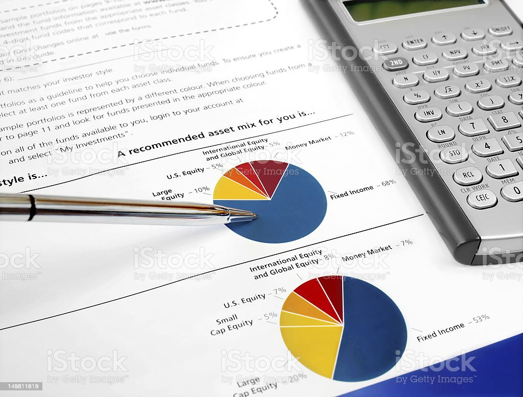Pie Investment Chart royalty-free stock photo