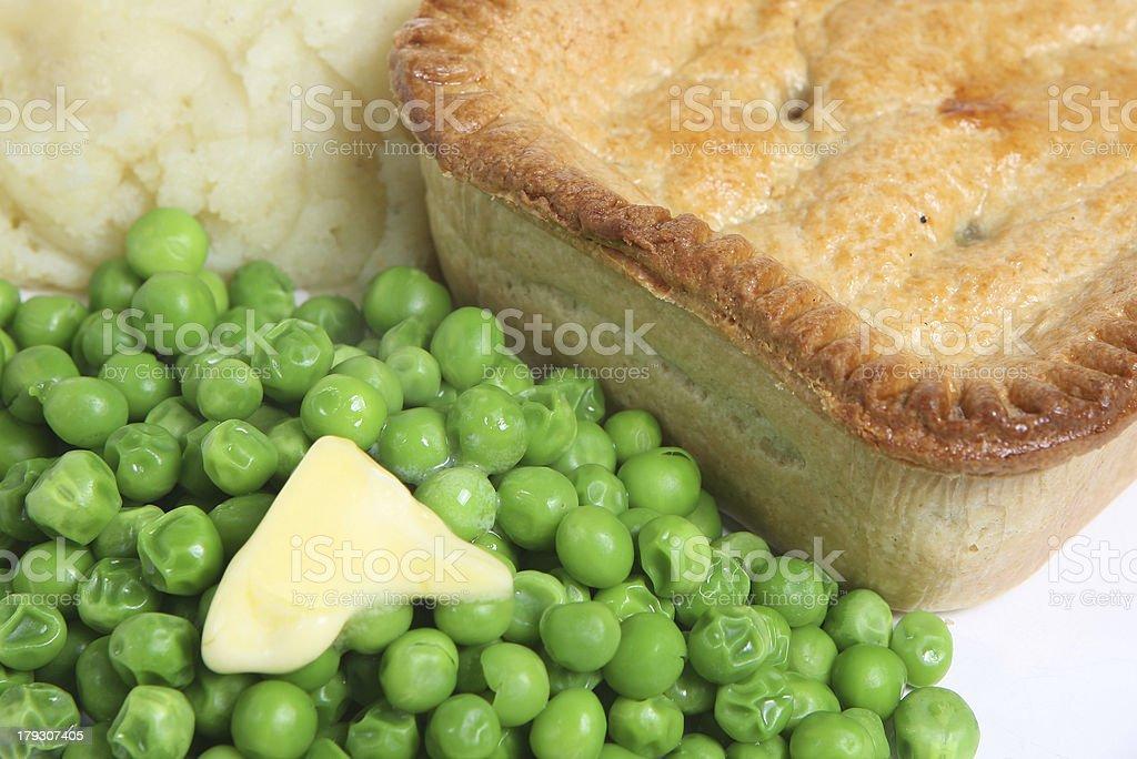 Pie & Mash royalty-free stock photo