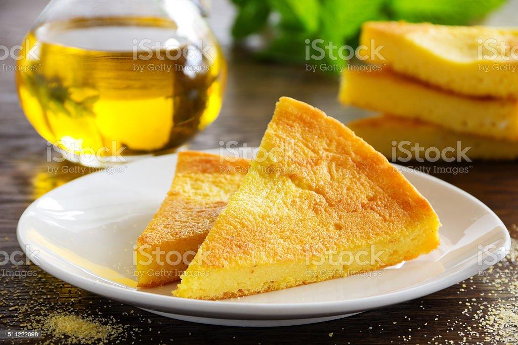 Torta de polenta. - foto de acervo