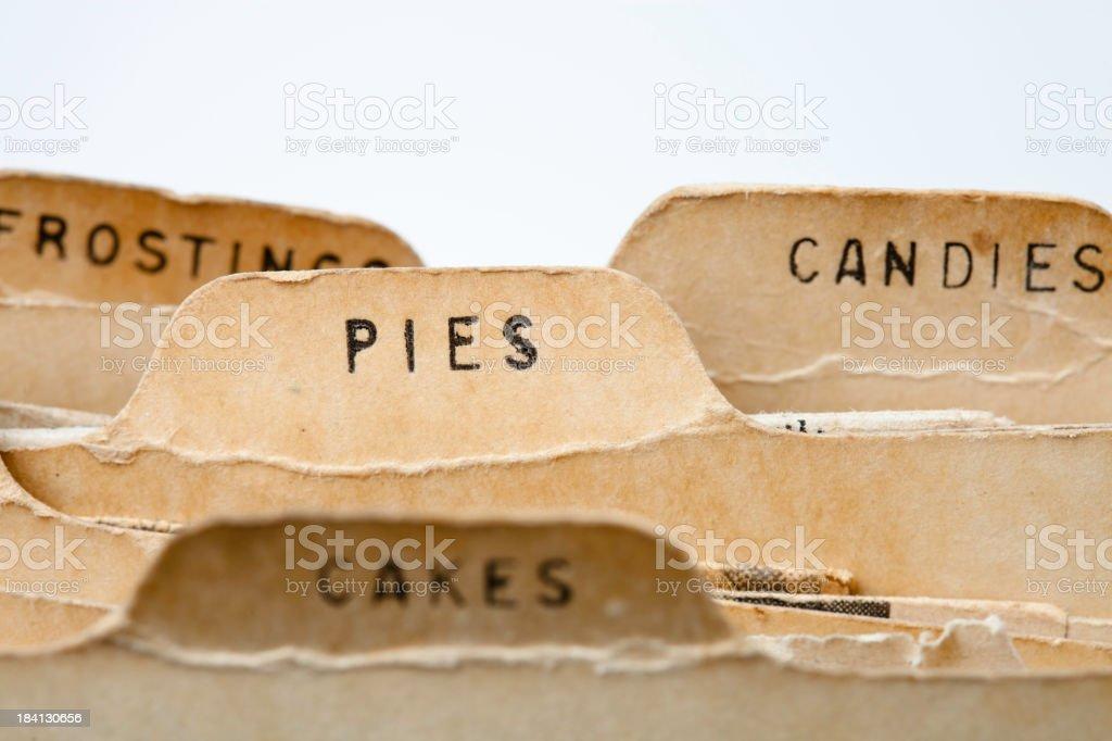 Pie Recipes stock photo