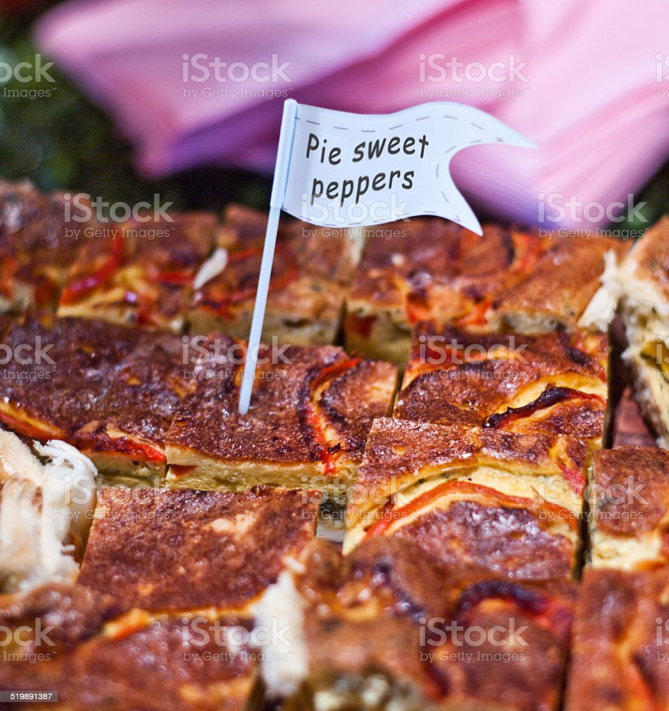 Pie sweet peppers stock photo