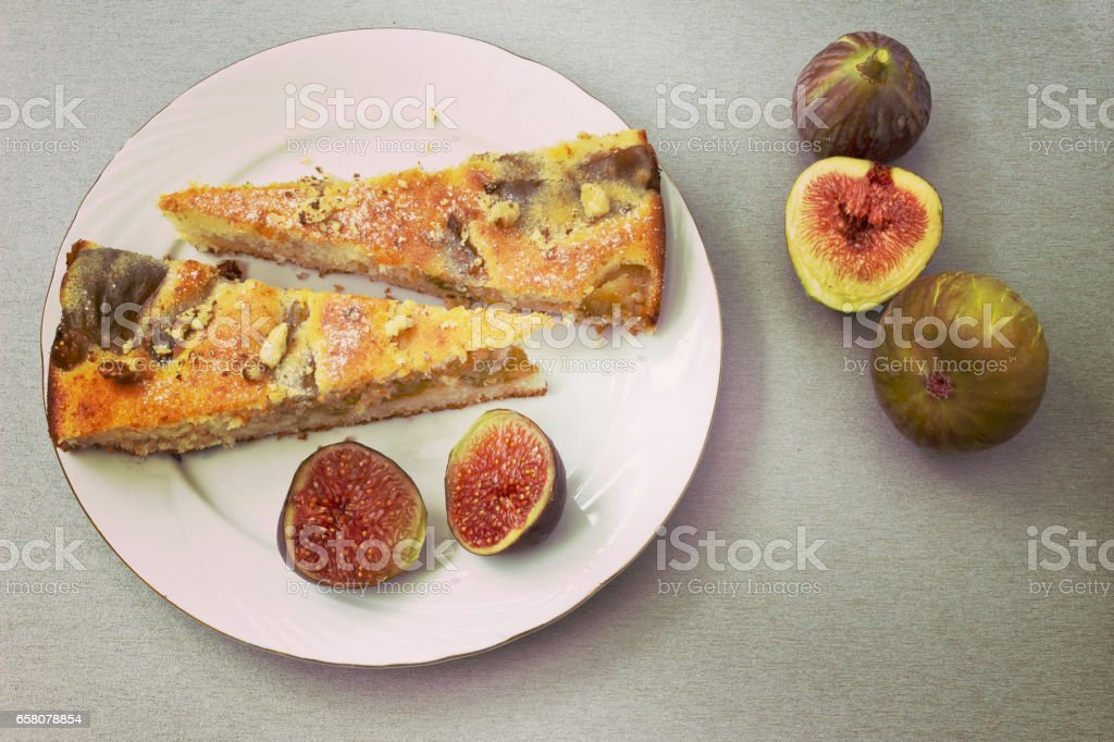Pie with figs royalty-free stock photo