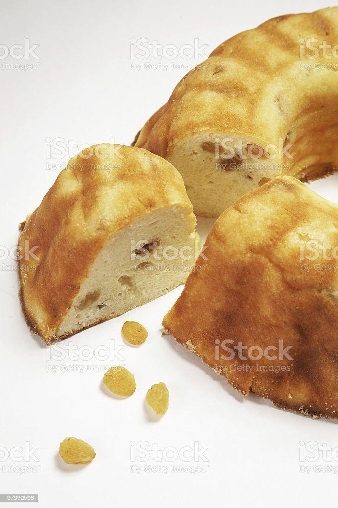 pie with raisin royalty-free stock photo