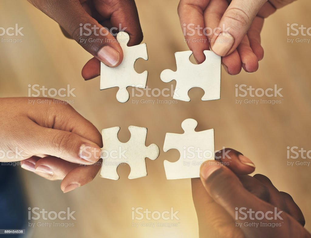 Piece by piece stock photo
