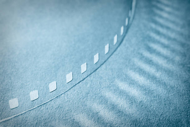 A piece of a photographic film. Abstract background. stock photo