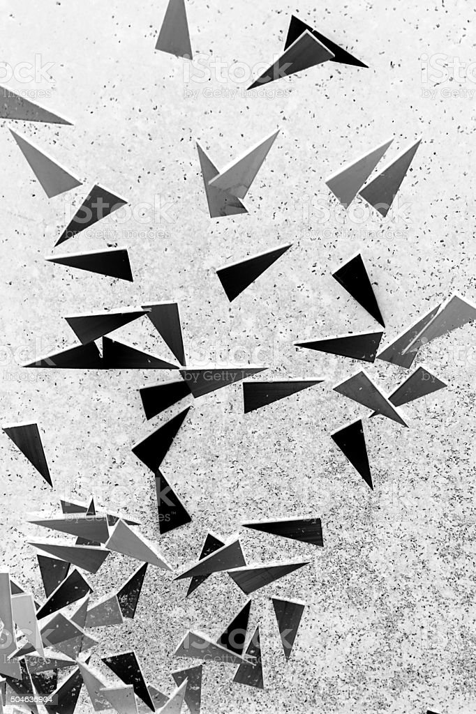 piece of aluminum triangle stock photo