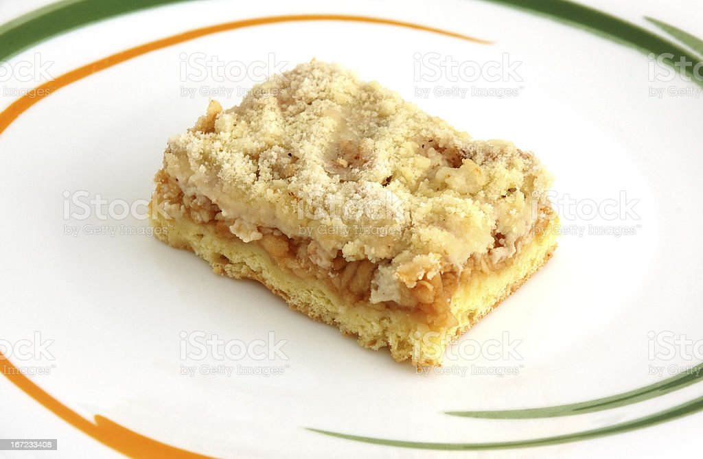 Piece of apple cake royalty-free stock photo