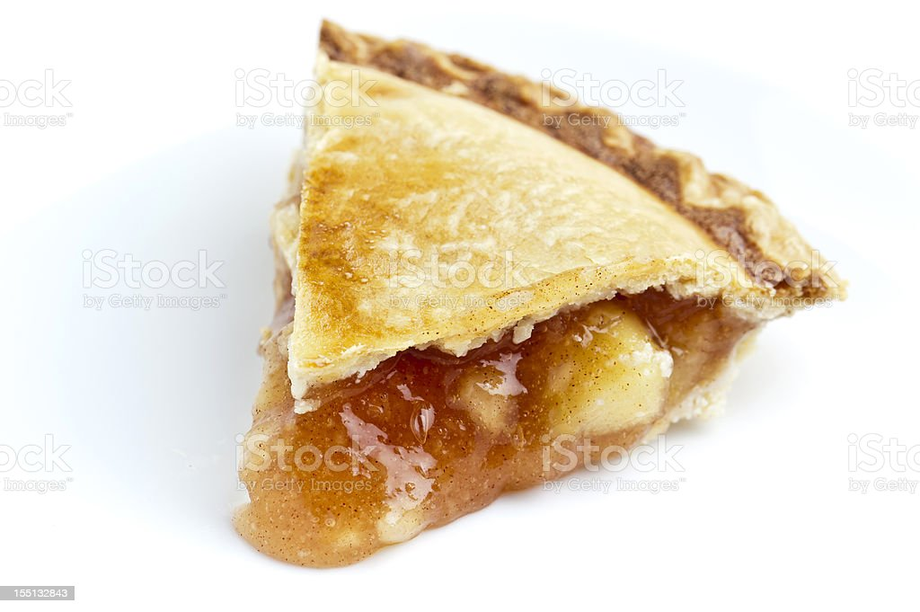 Piece of apple pie stock photo