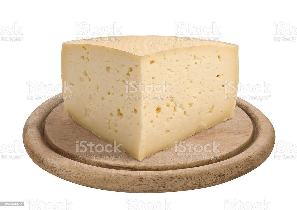 Pezzo di formaggio Asiago - foto stock