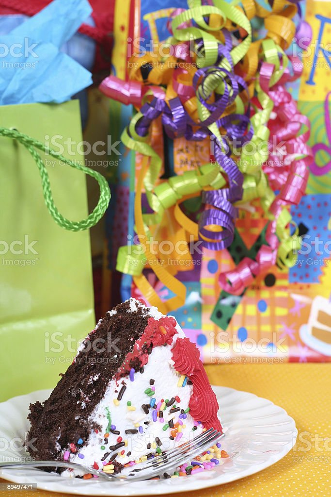 piece of birthday cake royalty free stockfoto