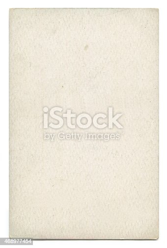 istock Piece of blank old paper on a white background 468977454