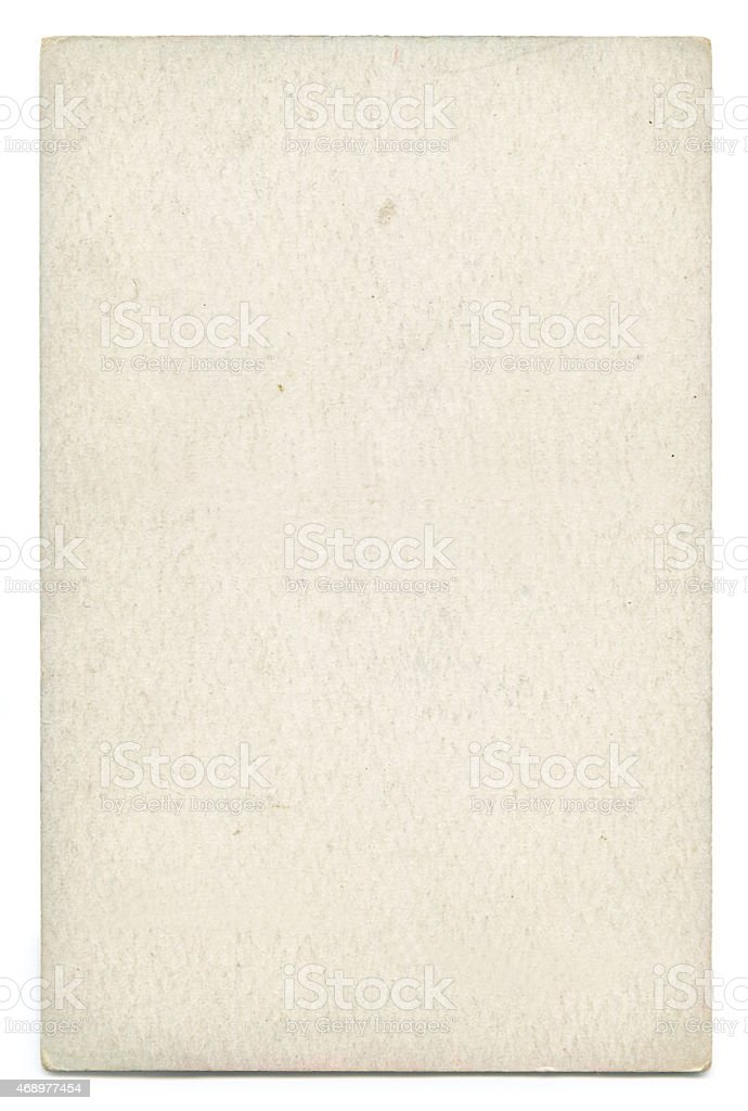 Piece of blank old paper on a white background stock photo