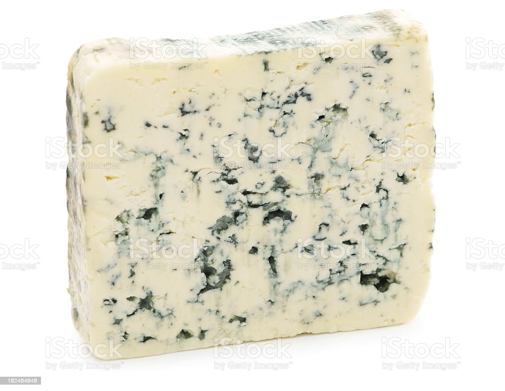 Piece of blue cheese stock photo