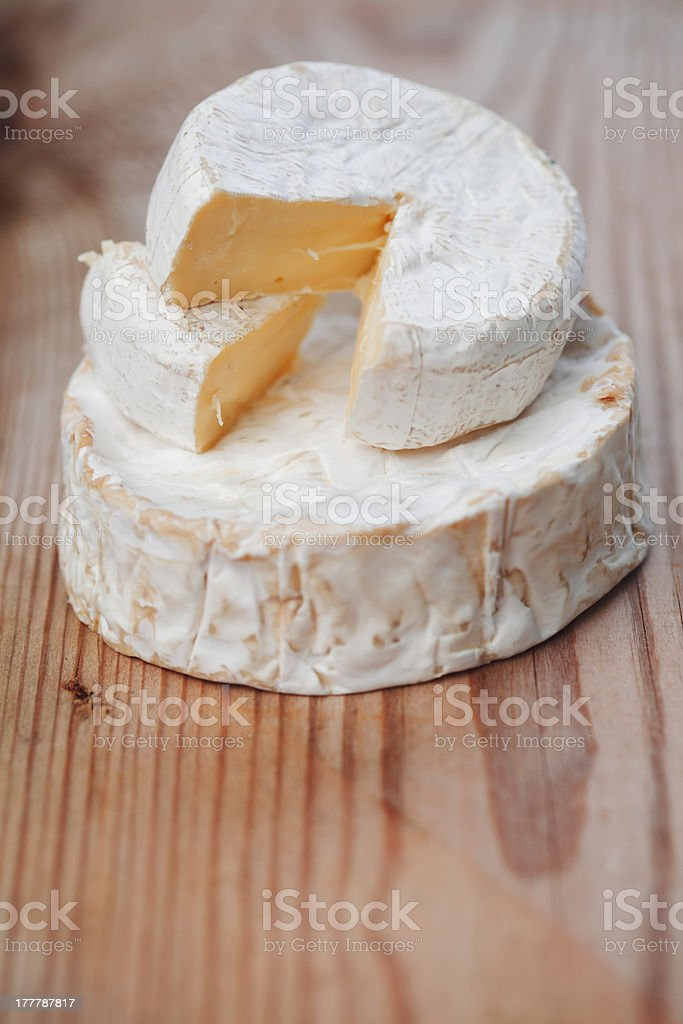 Piece of Brie cheese royalty-free stock photo