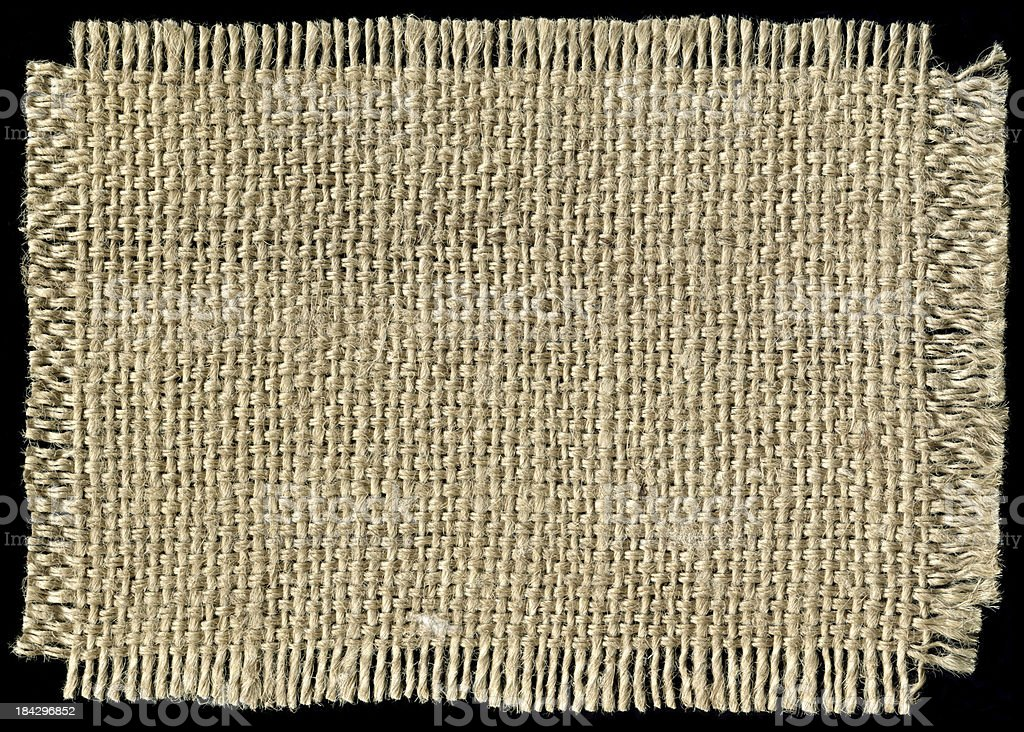 Piece of Burlap background textured isolated royalty-free stock photo