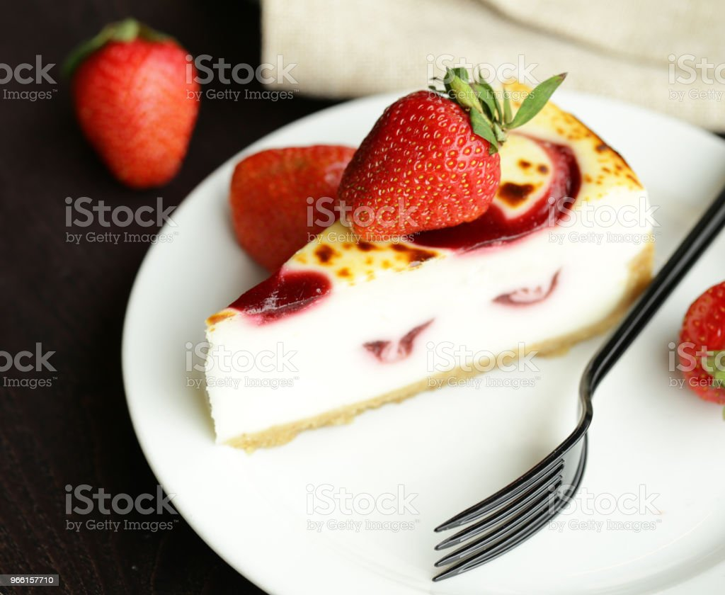 Stück Kuchen Käsekuchen - Lizenzfrei Beere - Obst Stock-Foto
