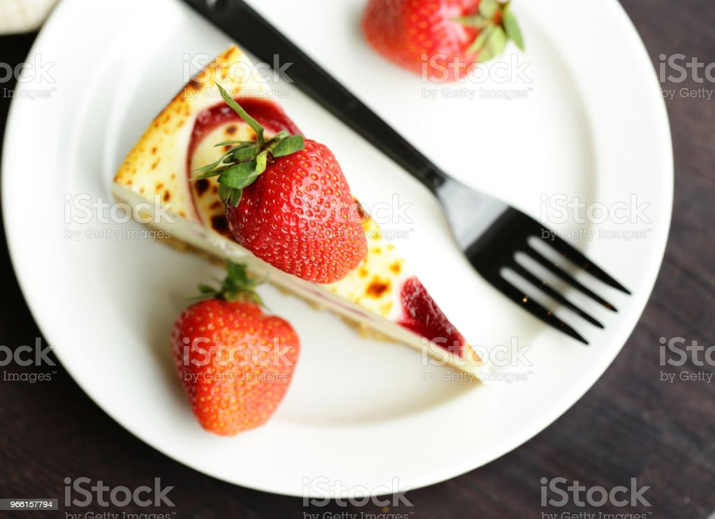 piece of cake cheesecake - Royalty-free Berry Stock Photo