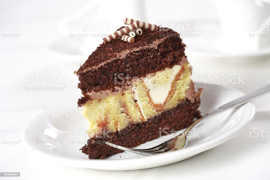 Piece of cake royalty-free stock photo