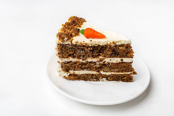 Piece of Carrot Cake stock photo