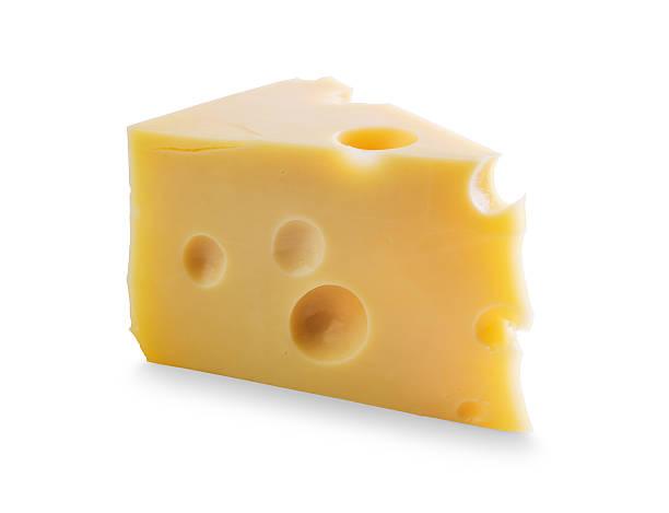 pezzo di formaggio con fori - maasdam foto e immagini stock