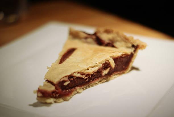 Piece of Cherry Pie stock photo