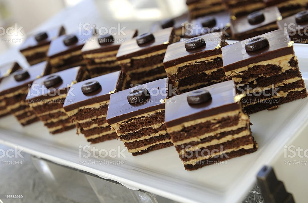 Piece of chocolate cake royalty-free stock photo