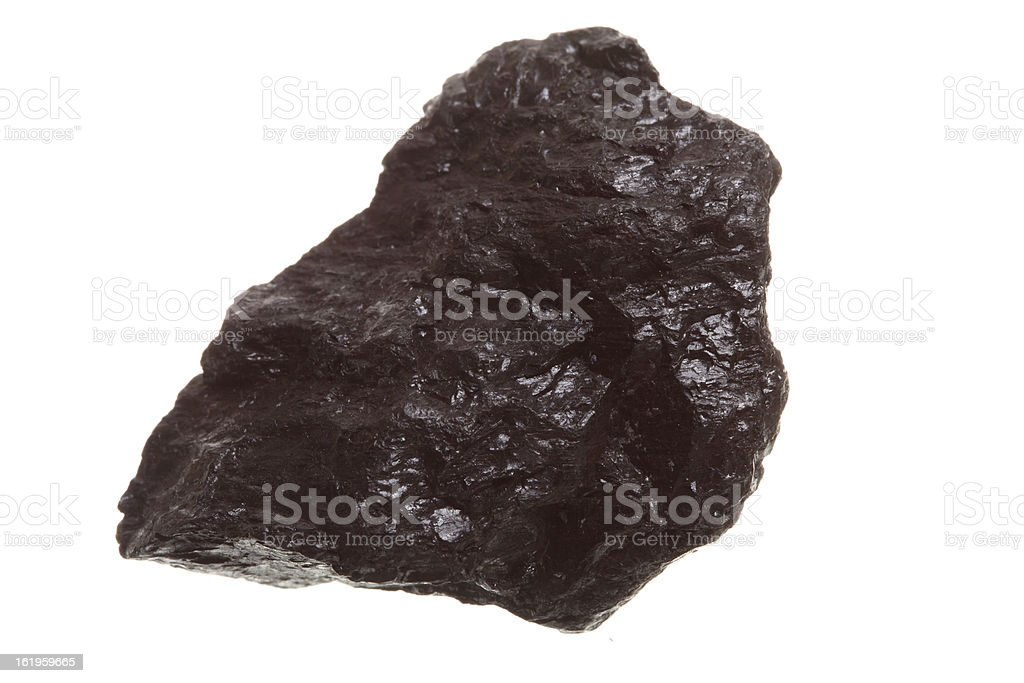 piece of coal isolated on white royalty-free stock photo