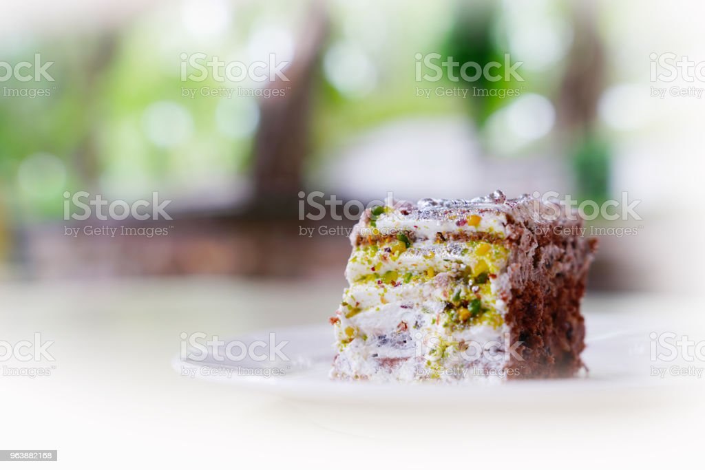 Piece of colorful and decorated cake - Royalty-free Bakery Stock Photo