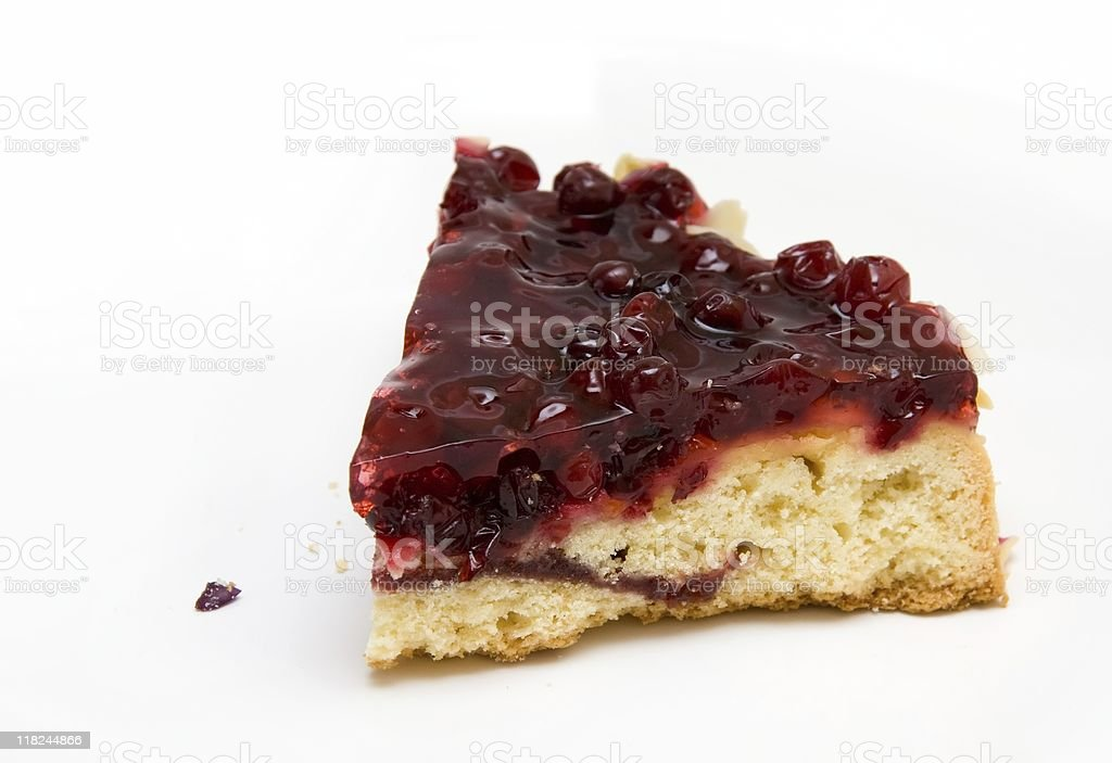 Piece of Cowberry Jelly Pie royalty-free stock photo