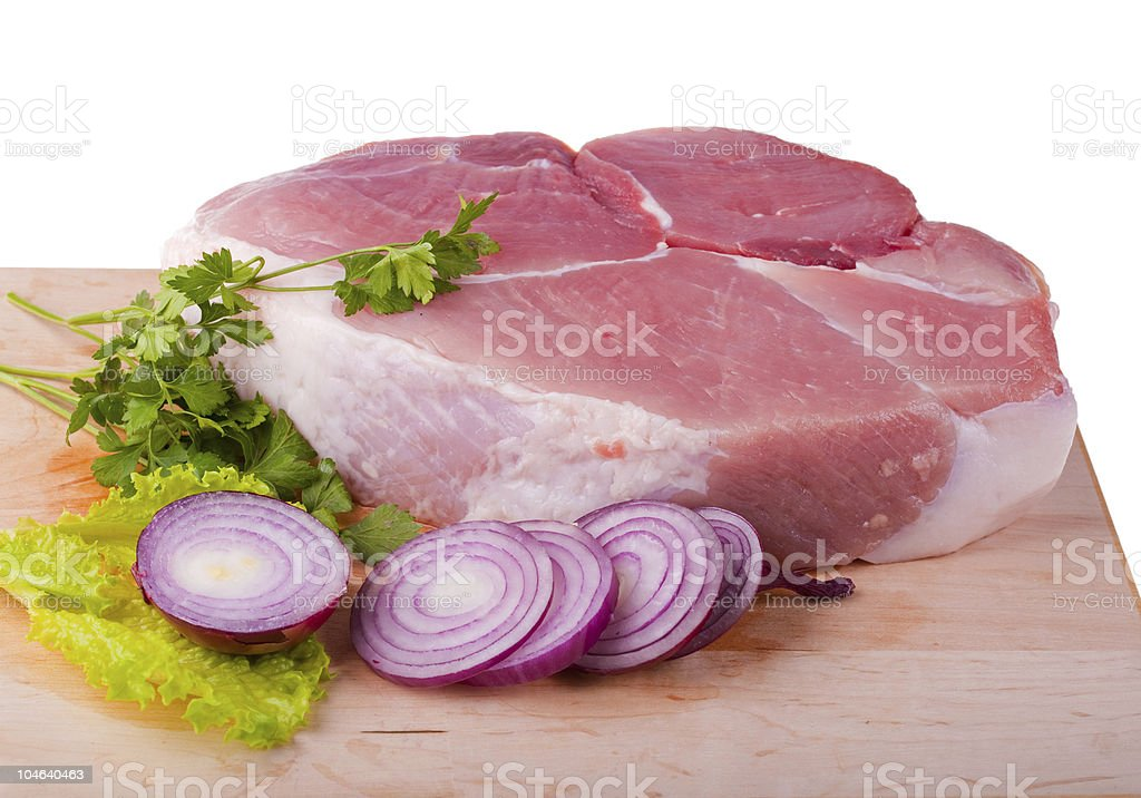 Piece of crude meat royalty-free stock photo