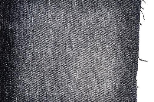 Foto de Pedaço De Tecido De Jeans Escuro e mais fotos de stock de Abstrato