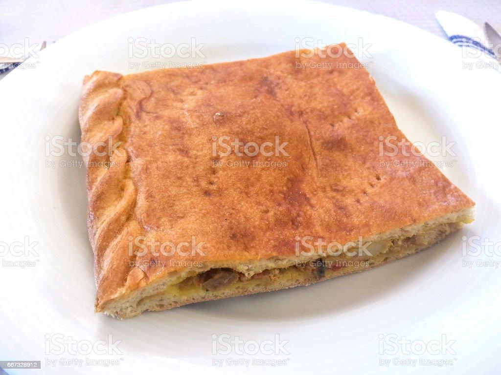 Piece of empanada royalty-free stock photo