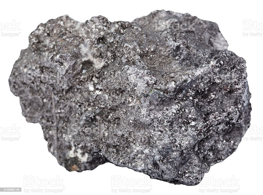 piece of graphite mineral gemstone isolated stock photo