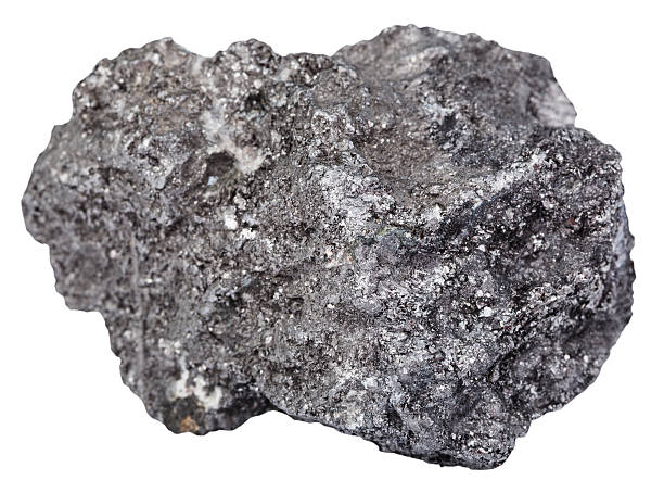 piece of graphite mineral gemstone isolated - lead stock photos and pictures