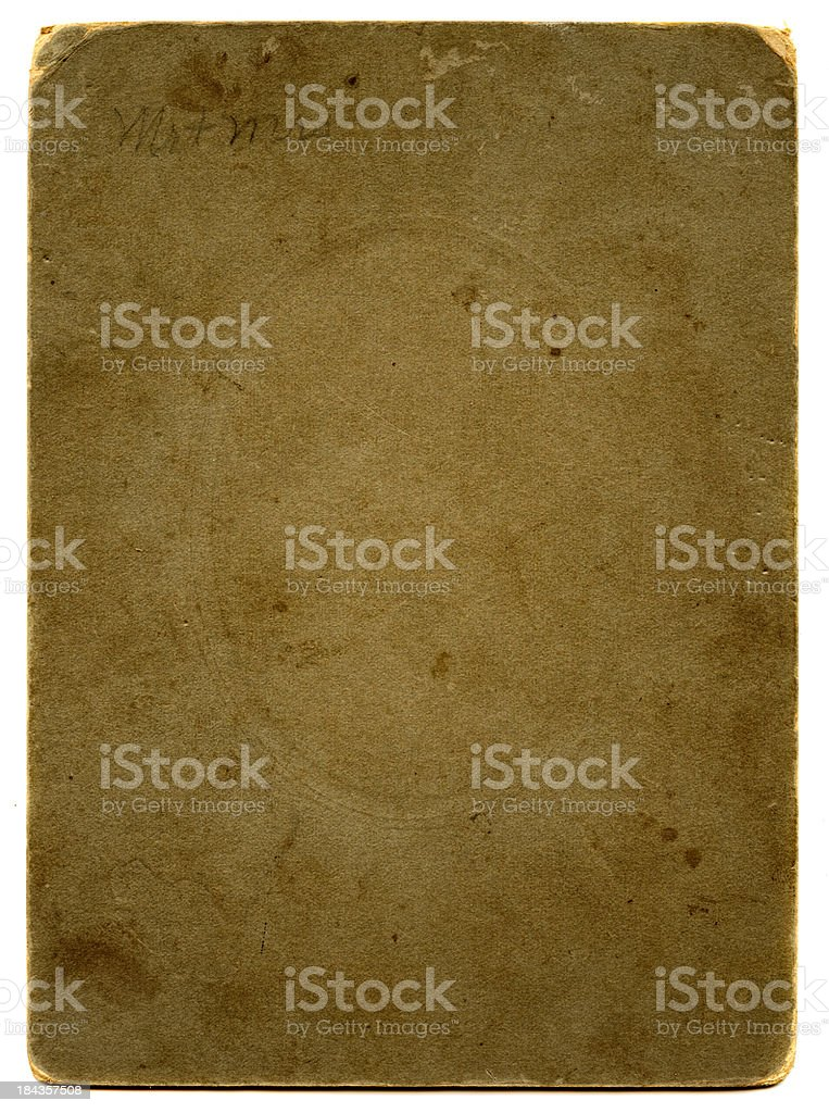 piece of grunge thick paper royalty-free stock photo