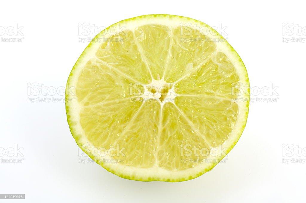 piece of lemon isolated on white background stock photo