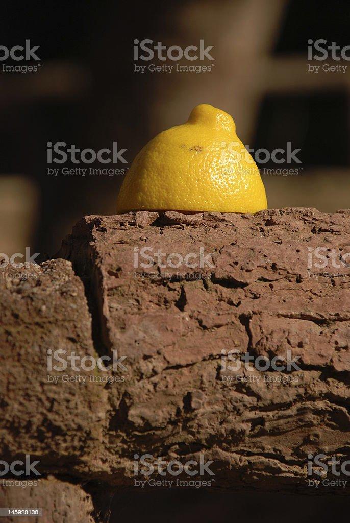 piece of lemon stock photo