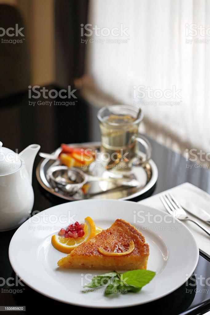 piece of lemon tart royalty-free stock photo