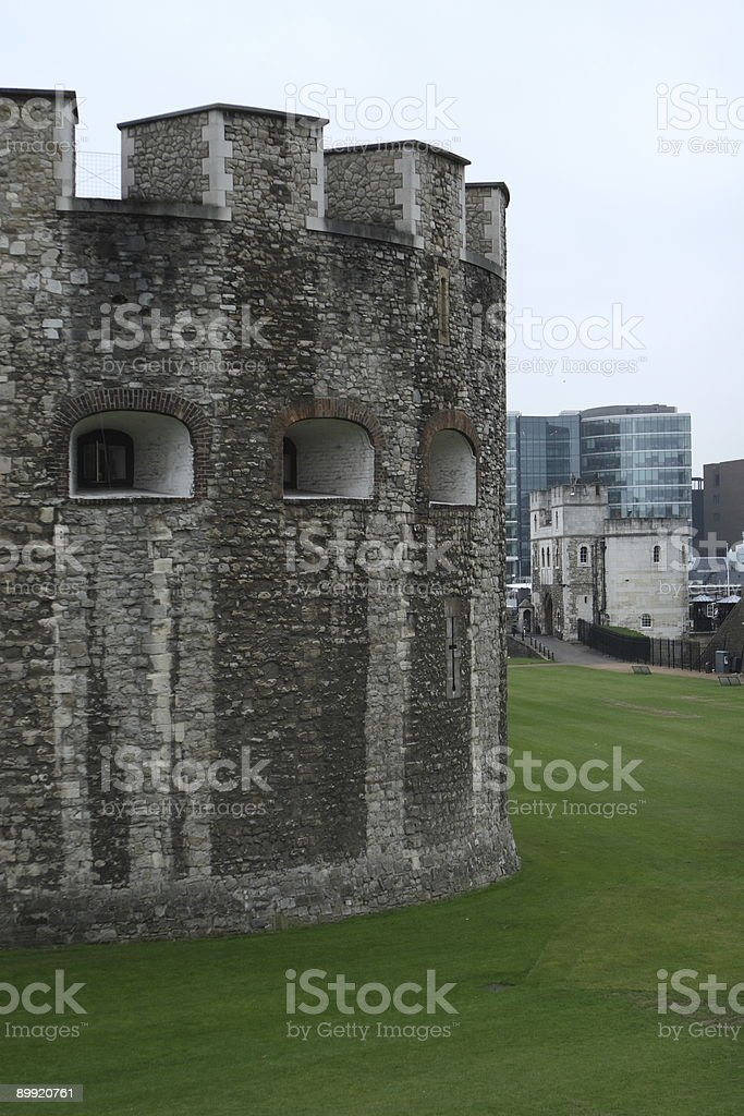 Piece of London Tower stock photo