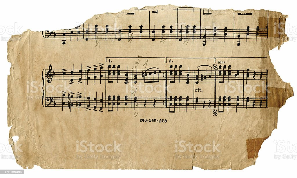 Piece of Old Music royalty-free stock photo